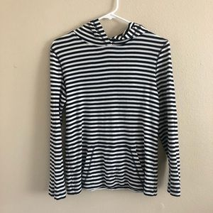 J. Crew black and white stripped hoodie